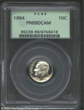 Proof Roosevelt Dimes: , 1964 10C PR69 Deep Cameo PCGS. Nearly flawless and free ...