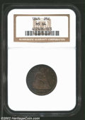 Seated Quarters: , 1845 25C MS64 NGC. Briggs 4-D. This coin was previously ...