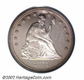 Proof Seated Quarters: , 1871 25C PR64 Deep Cameo PCGS. Briggs 1-A. Writing in ...