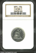 Proof Seated Quarters: , 1876 25C PR63 NGC. An attractive example of this Proof ...
