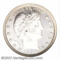 Proof Barber Quarters: , 1892 25C PR68 Cameo NGC. Type Two Reverse. This reverse ...