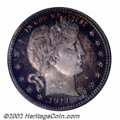 Proof Barber Quarters: , 1911 25C PR67 PCGS. With solid technical merits and ...