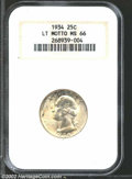 Washington Quarters: , 1934 25C Light Motto MS66 NGC. A sharp strike overall for ...