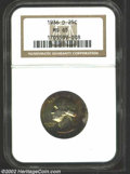 Washington Quarters: , 1936-D 25C MS65 NGC. Lovely peripheral yellow-green and ...