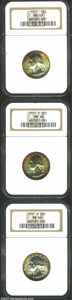 Washington Quarters: , 1937 25C MS67 NGC; 1937-D MS66 NGC; and a 1937-S ...