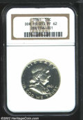 Proof Franklin Half Dollars: , 1961 50C PR62 NGC. Doubled Die Reverse. FS-013. Bill ...