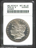 1879-CC $1 Unc Details, Improperly Cleaned, NCS. A fully struck example of this popular, semi-key Carson City issue. Whi...
