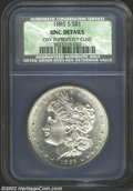 1885-S $1 Unc Details, Improperly Cleaned, NCS. Wildly lustrous