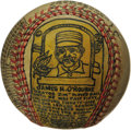 Baseball Collectibles:Others, George Sosnak Folk Art Baseball, Jim O'Rourke. Perhaps only LeroyNeiman's name is more recognizable to collectors when it ...