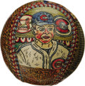 Baseball Collectibles:Others, George Sosnak Folk Art Baseball, Lon Warneke. Perhaps only LeroyNeiman's name is more recognizable to collectors when it c...