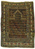 Rugs & Textiles:Carpets, An Antique Daghestan Prayer Rug. Caucasian, Circa 1880. Wool. 63inches x 49 inches...
