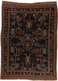Rugs & Textiles:Carpets, A Rare Antique Kurdish Carpet. Persia, Circa 1900. Wool. 84.75inches x 56.33 inches. Woven with a beautiful red backgro...