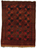 Rugs & Textiles:Carpets, A Semi-Antique Afghan Carpet. Persia, Circa 1910. Wool. 196 inchesx 129 inches. Woven with boteh medallions on a red fi...