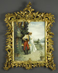 Fine Art - Painting, European:Antique  (Pre 1900), Italian Oil On Panel. A. Secola (Italian). Nineteenth Century. Oilon panel. Signed lower left. 20 x 16 inches. Depicting a ...
