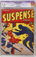 Golden Age (1938-1955):Horror, Suspense Comics #2 (Continental Magazines, 1944) CGC Apparent FN-5.5 Slight (A) Off-white pages....