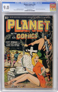 Golden Age (1938-1955):Science Fiction, Planet Comics #33 (Fiction House, 1944) CGC VF/NM 9.0 Off-white towhite pages....