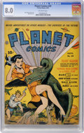 Golden Age (1938-1955):Science Fiction, Planet Comics #20 (Fiction House, 1942) CGC VF 8.0 Off-whitepages....