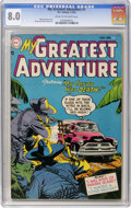 Golden Age (1938-1955):Horror, My Greatest Adventure #1 (DC, 1955) CGC VF 8.0 Cream to off-whitepages....