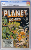 Golden Age (1938-1955):Science Fiction, Planet Comics #25 (Fiction House, 1943) CGC VF- 7.5 Off-whitepages....
