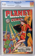 Golden Age (1938-1955):Science Fiction, Planet Comics #59 (Fiction House, 1949) CGC VF/NM 9.0 Whitepages....