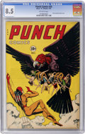 Golden Age (1938-1955):Superhero, Punch Comics #20 (Chesler, 1947) CGC VF+ 8.5 Off-white pages....