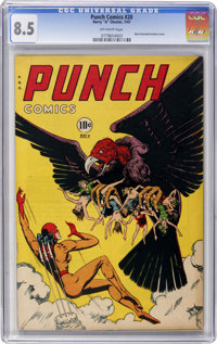 Punch Comics #20 (Chesler, 1947) CGC VF+ 8.5 Off-white pages