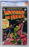 Golden Age (1938-1955):Science Fiction, Mystery in Space #3 (DC, 1951) CGC FN/VF 7.0 Off-white pages....