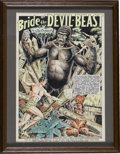 """Original Comic Art:Splash Pages, Jayson Disbrow - Terrors of the Jungle #7, """"Bride of theDevil-Beast"""" Hand Colored Splash Page Recreation Original Art(1980).... (Total: 0)"""