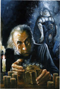 Original Comic Art:Covers, Ray Lago - Clive Barker's Hellraiser Dark Holiday Special Pin UpIllustration Original Art (undated)....