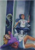 Original Comic Art:Covers, Zina Saunders - Mars Attacks #4 Cover Original Art (Topps,1994)....