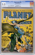 Golden Age (1938-1955):Science Fiction, Planet Comics #24 (Fiction House, 1943) CGC FN- 5.5 Cream tooff-white pages....