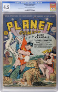 Golden Age (1938-1955):Science Fiction, Planet Comics #14 (Fiction House, 1941) CGC VG+ 4.5 Cream tooff-white pages....