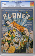 Golden Age (1938-1955):Science Fiction, Planet Comics #18 (Fiction House, 1942) CGC FN/VF 7.0, Off-whitepages....