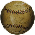 Autographs:Baseballs, 1928 New York Yankees Team Signed Baseball. Though the 1927 edition is typically considered the finest of all Yankee squads...