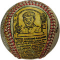 Baseball Collectibles:Others, George Sosnak Folk Art Baseball, Grover Cleveland Alexander. Perhaps only Leroy Neiman's name is more recognizable to ...