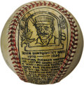 Baseball Collectibles:Others, George Sosnak Folk Art Baseball, Monte Ward. Perhaps only LeroyNeiman's name is more recognizable to collectors when it co...