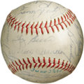 Autographs:Baseballs, 1960 New York Yankees Team Signed Baseball. The American Leaguepennant holders were denied a World Championship this seaso...