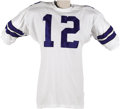 Football Collectibles:Uniforms, 1969 Roger Staubach Game Worn Rookie Jersey. Like most other Hallof Fame NFL quarterbacks, Roger Staubach had an inauspici...