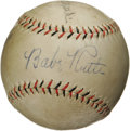 Autographs:Baseballs, 1930's Babe Ruth Signed Baseball. A magnificent sweet spot signature from the greatest Yankee of them all gives this Pacifi...