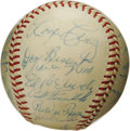 Autographs:Baseballs, 1956 Brooklyn Dodgers Team Signed Baseball, PSA NM 7. The magnificent condition of this ONL (Giles) ball, and the absence o...