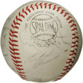 Autographs:Baseballs, 1964 Pittsburgh Pirates Team Signed Baseball. Twenty-two black inksignatures on an ONL (Giles) ball are highlighted by the...