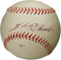 "Autographs:Baseballs, 1960's Roberto Clemente ""Single Signed"" Baseball. In a time when superstar baseball players tend to disappoint more than in..."