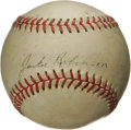 "Autographs:Baseballs, 1950's Jackie Robinson ""Single Signed"" Baseball. Perhaps it was thegreat humility of this most significant figure in baseb..."