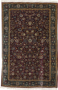 A Semi-Antique Teheran Rug  North Persia, Circa 1915 Wool 145 inches x 105.5 inches  Woven with beautiful color and de...