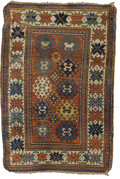Rugs & Textiles:Carpets, An Antique Kazak Rug. Caucasus. Circa 1860. Wool. 67.33 inches x46.875 inches. Woven with brick background with multic...