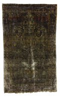 Rugs & Textiles:Carpets, An Antique Ferragan Silk Prayer Rug. West Persia. Circa 1890. Wool,silk. 80.33 inches x 50.75 inches. With beautiful gr...