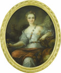 Fine Art - Painting, European:Antique  (Pre 1900), A French 19th Century Oval Portrait. Unknown artist, French.Nineteenth Century. Pastel on paper. 31 x 26 (framed). Half-l...