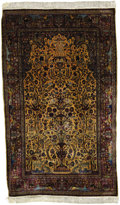 Rugs & Textiles:Carpets, An Antique Silk Kashan Rug. Persia. Circa 1900. Silk, wool. 80.33inches x 49.6 inches. ...
