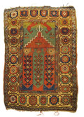 Rugs & Textiles:Carpets, An Antique Turkish Prayer Rug. Central Anatolia. Circa 1800. Wool.58.25 inches x 42.125 inches. ...