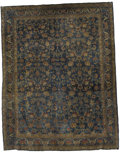 Rugs & Textiles:Carpets, An Antique Kerman Carpet. Persia. Circa 1900. Wool. 10.7 feet x13.7 feet. Woven with a rare blue/green background....